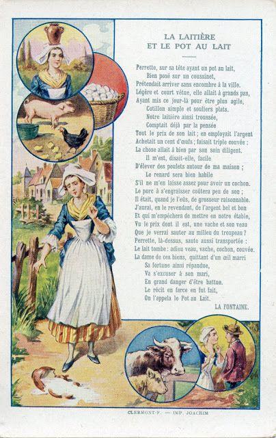 Images Fables de La Fontaine - Etablissements Bergougnan - Clermont-Ferrand - Le grenier de l'école