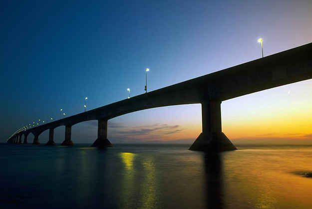 …and set over the Confederation Bridge.