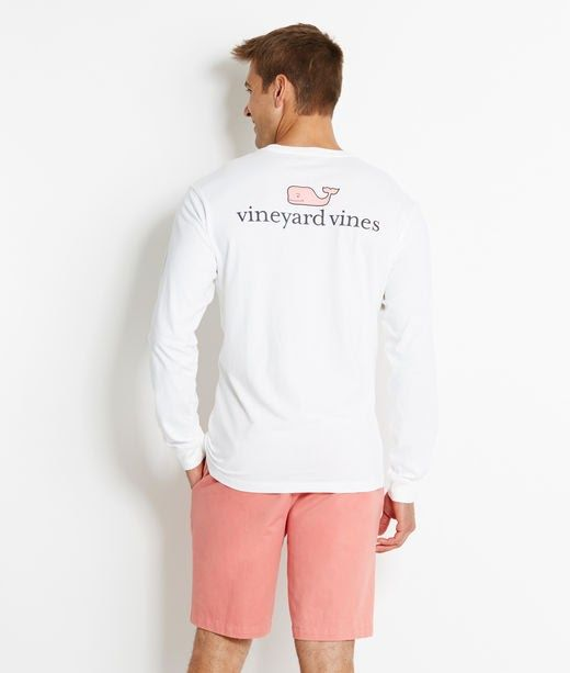 Mens T-Shirts: Long-Sleeve vineyard vines Logo Graphic T-Shirt - Vineyard Vines