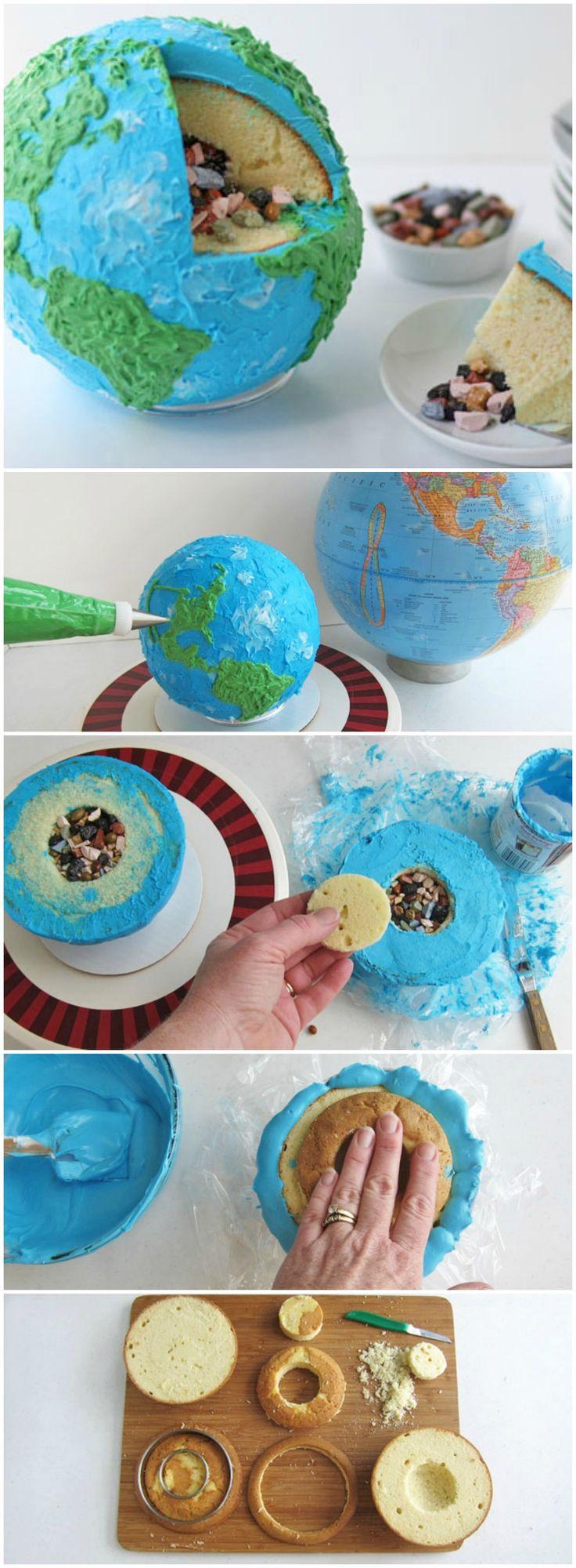 Earth Cake w/ Rock Candy Core #EarthDay