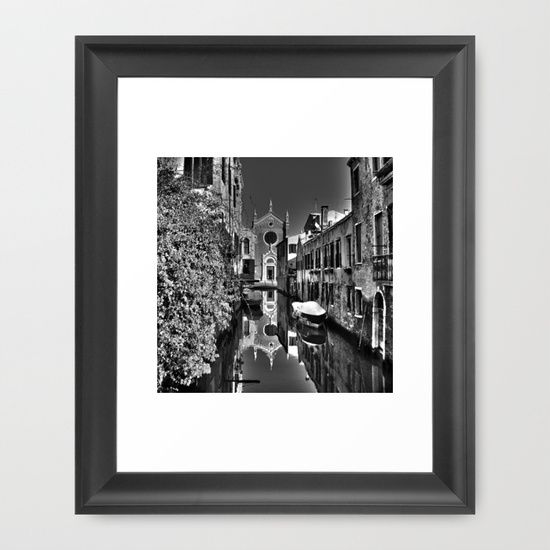"FRAMED FINE ART PRINT (10"" X 12"") Venice photography black and white by LaCatrina.it"