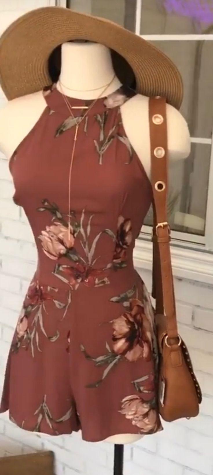 Macaquinho marrom florido