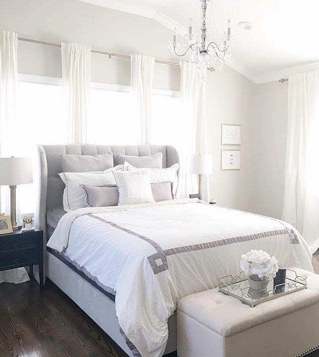 Ready to get inspired by a beautiful feed?!?! This stunning bedroom belongs to my very talented friend @jaclynmari_  Jaclyn's acct was one of first I've ever started following and she continues to inspire me daily  Please give her a follow because I know you'll love her design style just as much as I do  #followfriday #DesignInspo #onetofollow