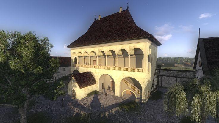 Nyírbátori vár (látványrajz)