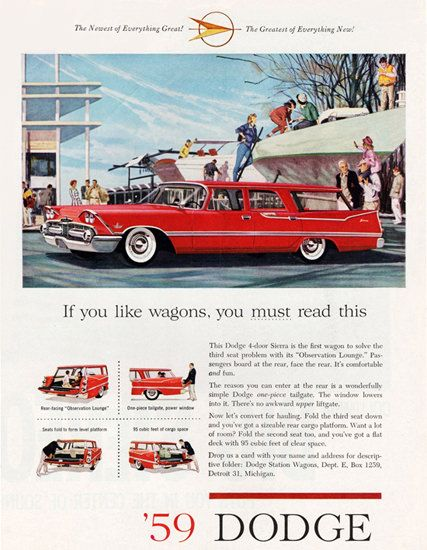 Dodge Custom Sierra Station Wagon 1959 - Mad Men Art: The 1891-1970 Vintage Advertisement Art Collection