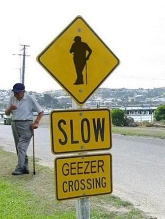 Geezer crossing