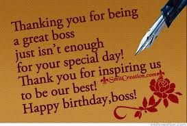 Happy Birthday Wishes Boss Sms New