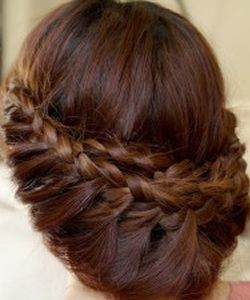 Prom hair braid