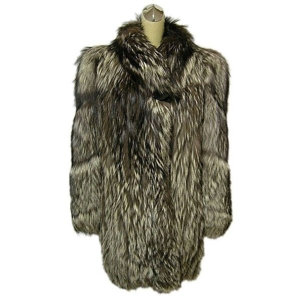 Pre-owned Genuine Fox Jacket Plush Real Fur Medium-large Fur Coat ($675) ❤ liked on Polyvore featuring outerwear, coats, silver, fox fur coat, fox coat, fur coat, brown coat and brown fur coat