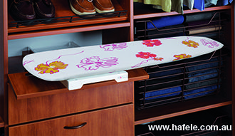 Ironfix Ironing Board: Lateral mounted to suits any area of the house.