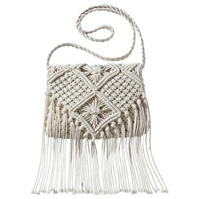 Mossimo Supply Co. Weave Crossbody Handbag with Fringe - Ivory #PinToWinYourSummerWishListContest