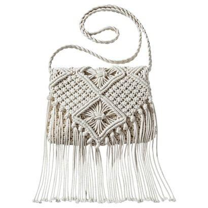 Mossimo Supply Co. Weave Crossbody Handbag with Fringe - Ivory #PinToWinYourSummerWishListContest