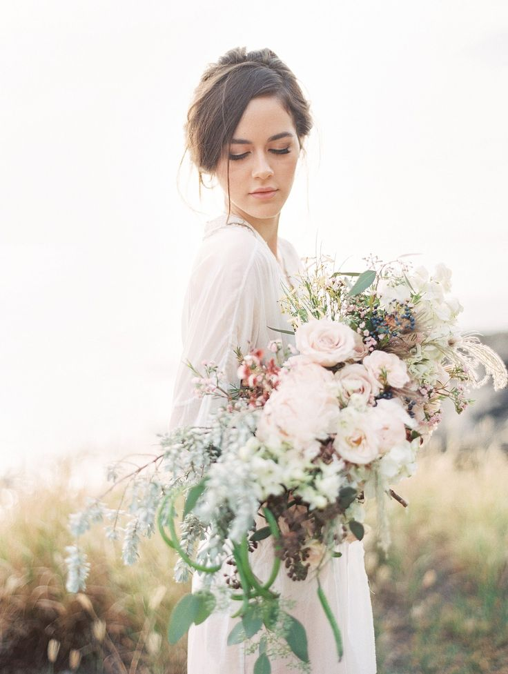 Ethereal and Romantic Bridal Style among the Hawaiian Hills by Christine Clark…