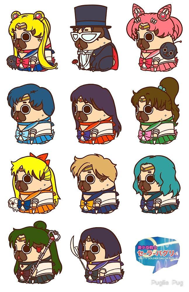 «Pretty Soldier Sailor Puglie» de Puglie  Pug