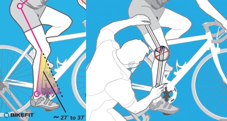 road bike fitting knee angle