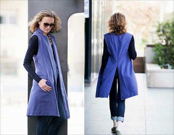 Hemp vest with pockets/ Unisex vest/ Samurai vest/ Sleeveless