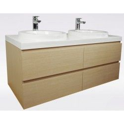 Sonoma Wall Hung Vanity 1200mm - Light Woodgrain