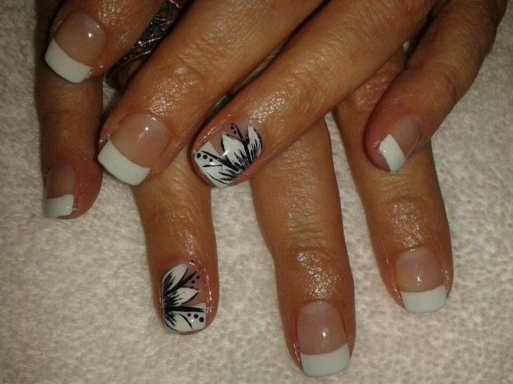 Bio Sculpture Gel Nails  Handpainted