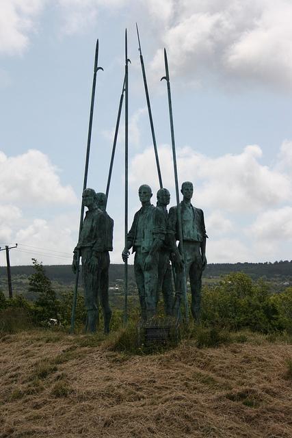 The Pikemen. memorial to Irish Rebels, Wexford