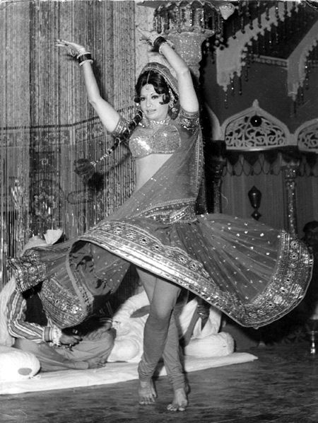 Indias first true Cabaret star Helen , was very popular in 1950s and 60s for her item numbers.