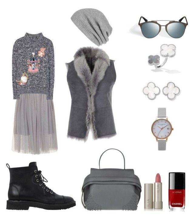 """Total grey"" by lupik on Polyvore featuring мода, Giuseppe Zanotti, White + Warren, Dolce&Gabbana, Olivia Burton, Tod's, Ilia и Chanel"