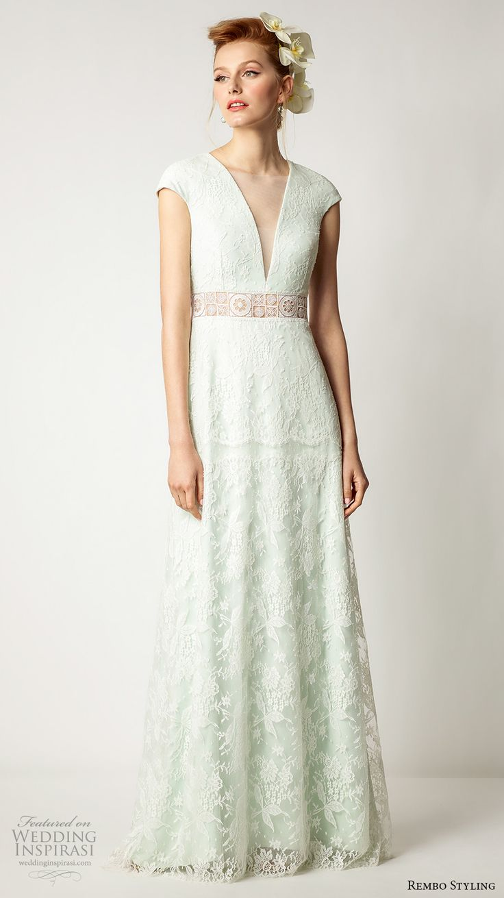 21 best images about mint light green gowns on pinterest for Mint color wedding dress