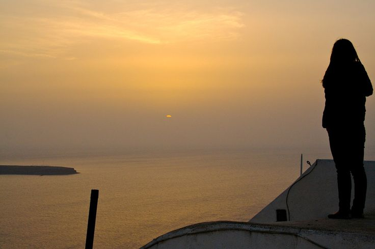 Just the #sunset and you! #Santorini