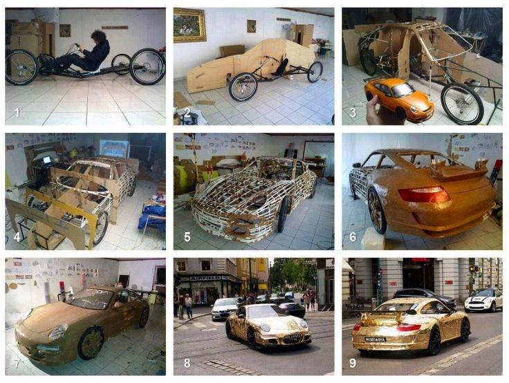 """Crazy Eco """"car"""" good luck on the high way though! Porsche"""