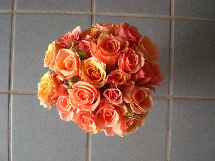 Double P! Pink and Peach Bouquet from Poppies  www.twitter.com/poppiestoronto www.facebook.com/poppiestoronto