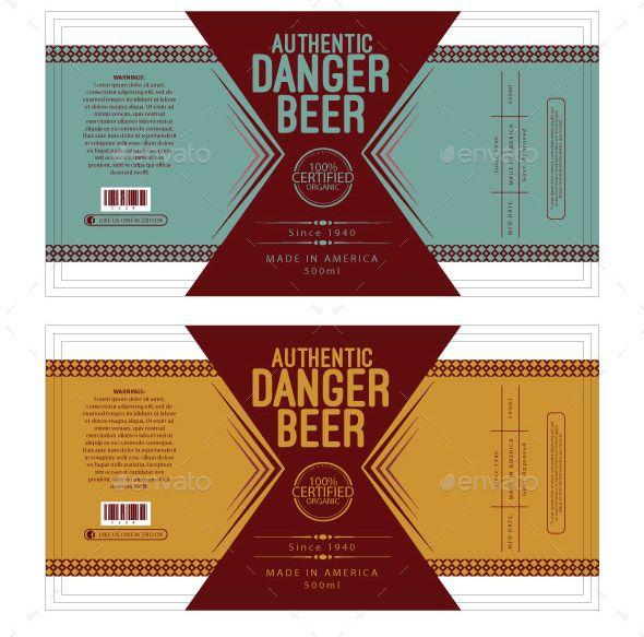 Beer Label Template Beer Label Design Beer Label Design