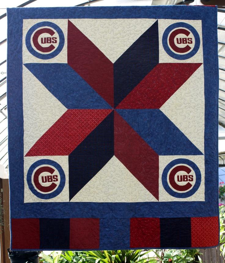Chicago Cubs Quilt KIT. $70.00, via Etsy.