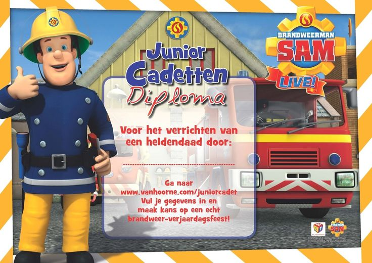 BRANDWEERMAN SAM LIVE! - Junior Cadet | Van Hoorne Entertainment
