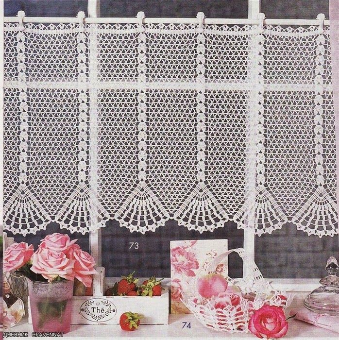 Curtains crocheted
