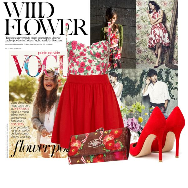 """flower print"" by inculori on Polyvore"