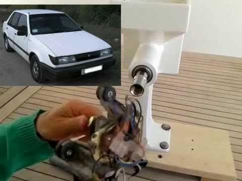 DIY: Motorizing The Country Living Grain Mill With A Wind-Shield Motor - YouTube