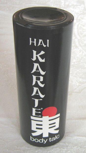 Hai Karate body talc, c.1970s (SOLD) - www.vanishederas.com