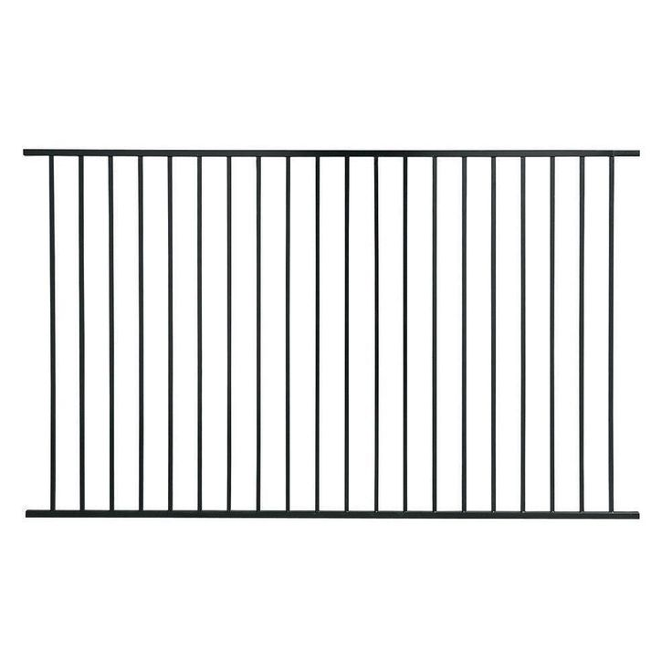US Door & Fence Pro Series 4.84 ft. H x 7.75 ft. W Black Steel Fence Panel-F2GHDS93X58US - The Home Depot