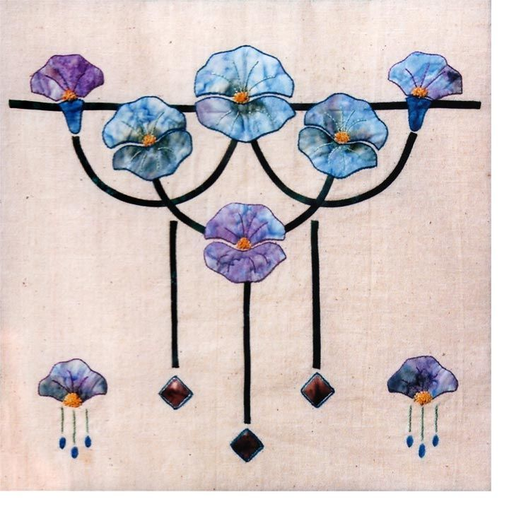 craftsman quilt | Vining Morning Glories | Item #35c