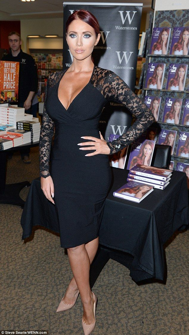 Amy Childs.. Amy Childs lace sleeve dress, and Christian Louboutin heels..