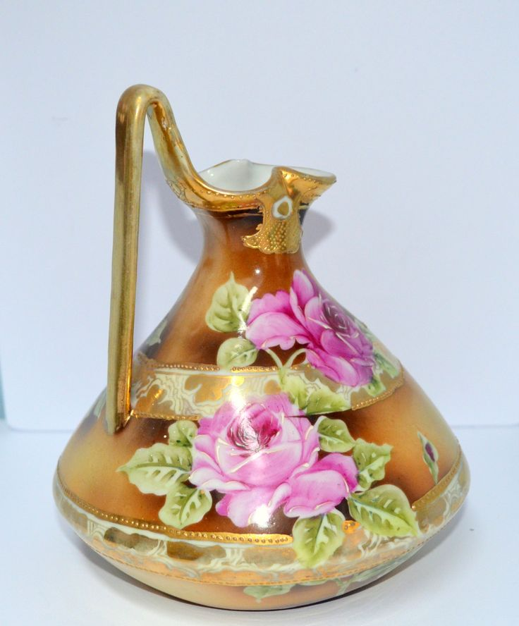Excited to share the latest addition to my #etsy shop: Nippon Ewer Japanese Porcelain Gold Moriage Pitcher http://etsy.me/2GDrup3 #housewares #nipponpitcher #nipponewer #nipponmoriage #nipponnoritake #nipponporcelain #noritakeroses #pitcherrosesgold #nipponvase
