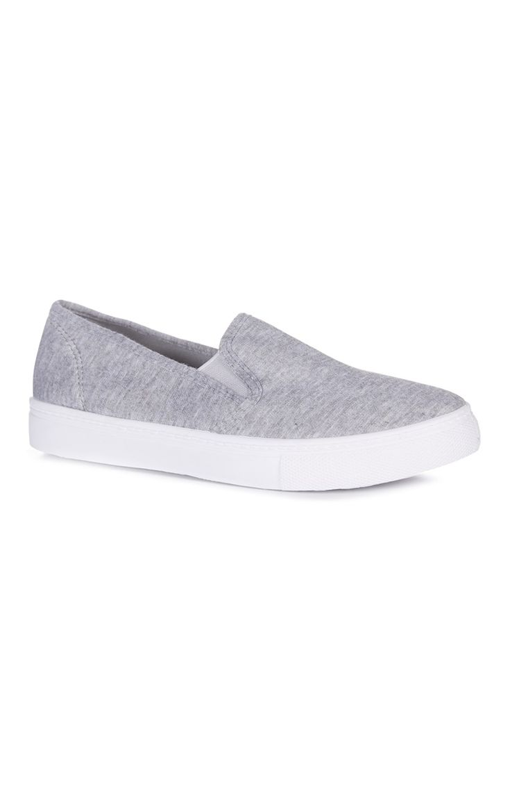 Grey Jersey Slip On Shoe