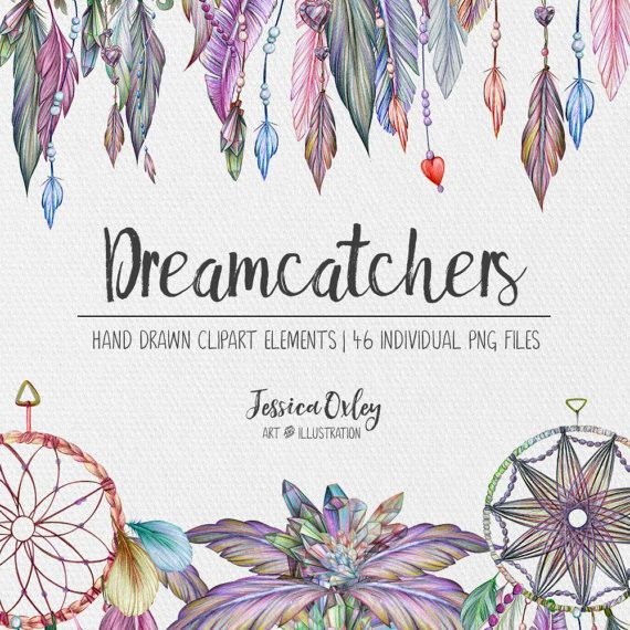 Dreamcatcher Clipart  The Dream Collection  by JessicaOxleyAI