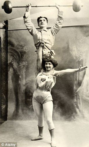 When female biceps were the height of sex appeal: Tantalising book explores the golden age of women bodybuilders.  Strongwomen such as Kate Brumbach became popular in the early 1900s.   Drew huge crowds as they lifted weights, objects or men above them.  Performers would tour music halls dreaming up stranger stunts.