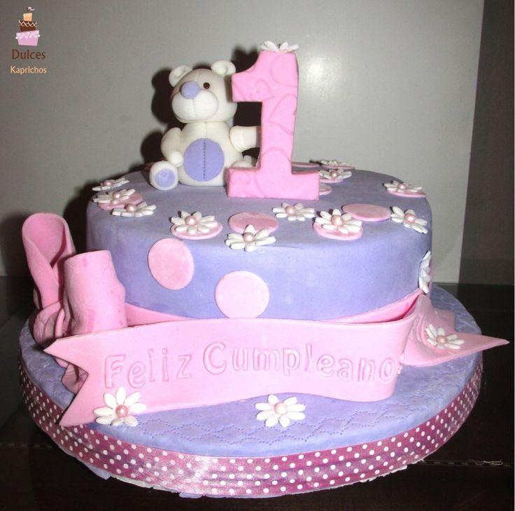 Torta Primer Añito #TortaPromerAño #TortasDecoradas #DulcesKaprichos #TortasDecoradas