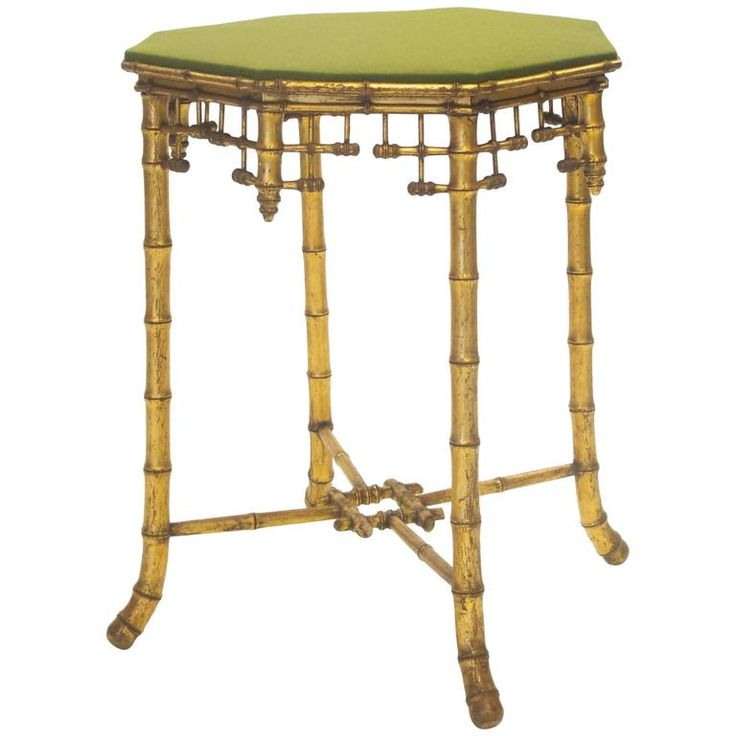 French Napoleon III Giltwood Faux Bamboo Table, circa 1870 | From a unique collection of antique and modern side tables at https://www.1stdibs.com/furniture/tables/side-tables/