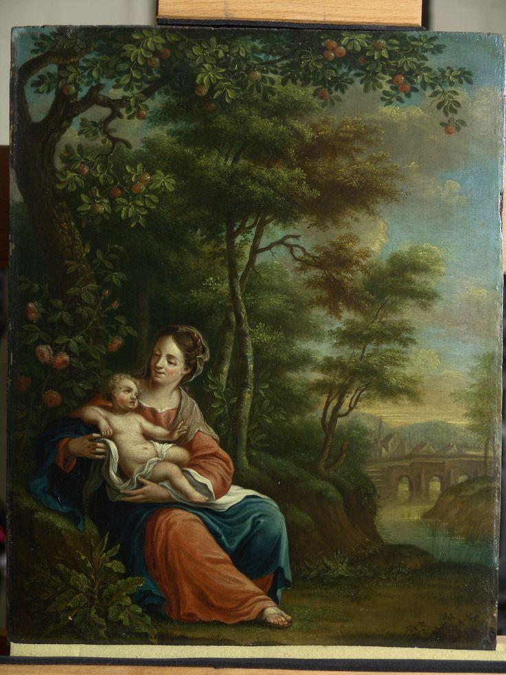 Maria met kind - voor behandeling - RestauratieatelierHaarlem.nl