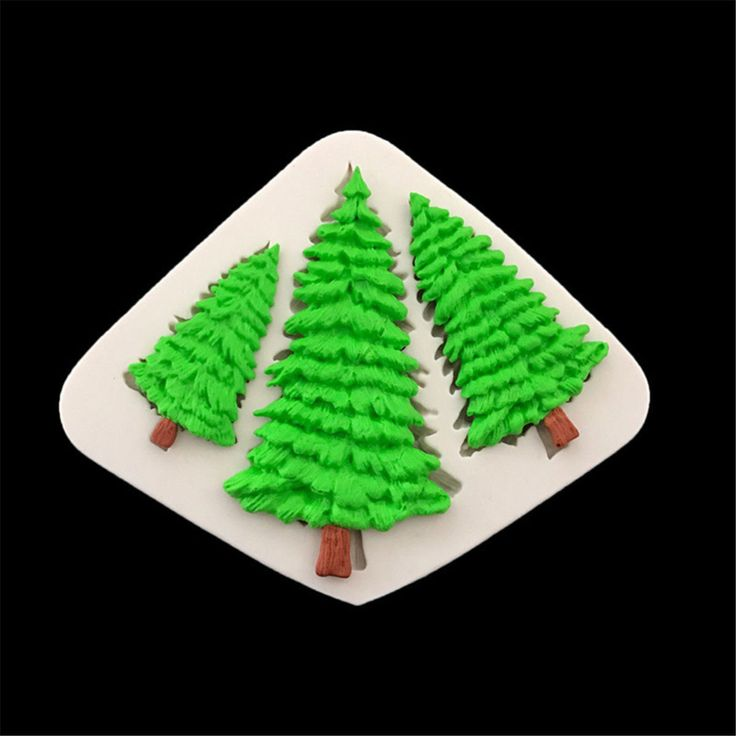 Details about 3-hole Christmas Tree Cake Mold DIY Silicone Fondant Sugar Craft Decorating Mold – galletas