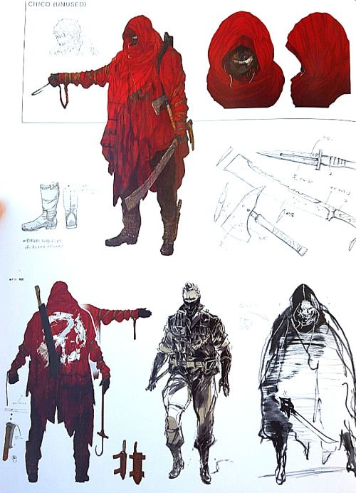 Unused adult Chico concept art for Metal Gear Solid V