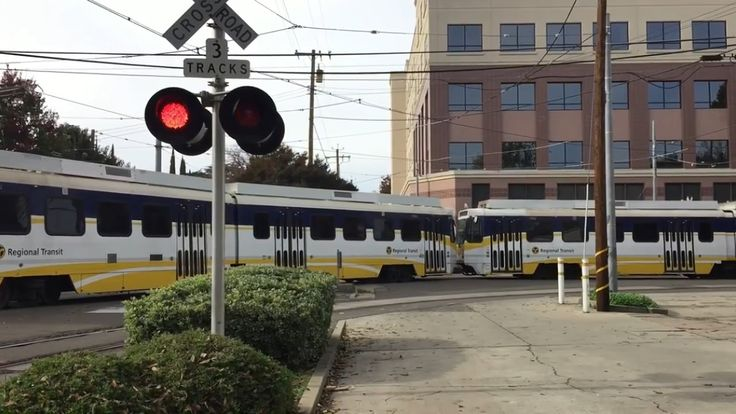12th Street and Whittney Avenue Railroad Crossing, Sacramento Light Rail...