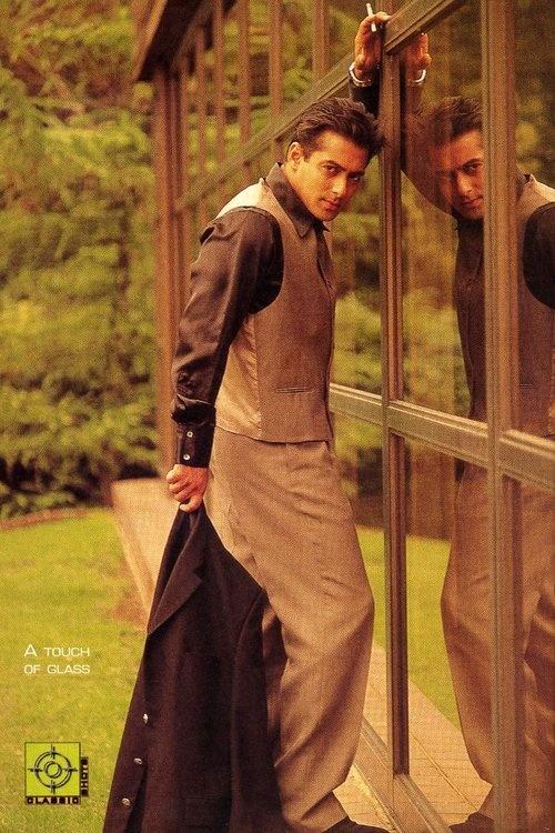 Salman Khan in Filmfare photoshoot in the late 90's